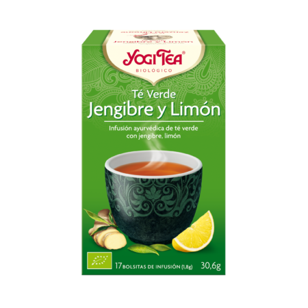 Yogi Tea Té Verde Jengibre Limón 17 Infusiones