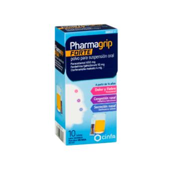 Pharmagrip Forte 650/4/10 Mg 10 Sobres