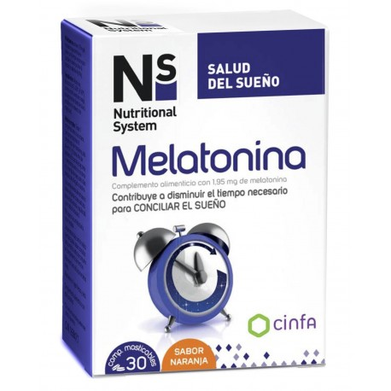 NS Melatonina 30 comp Naranja