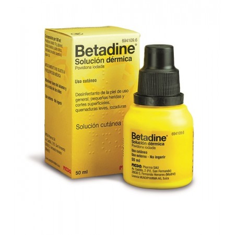 Betadine 100 Mg/Ml Solucion Topica 1 Frasco 50 M