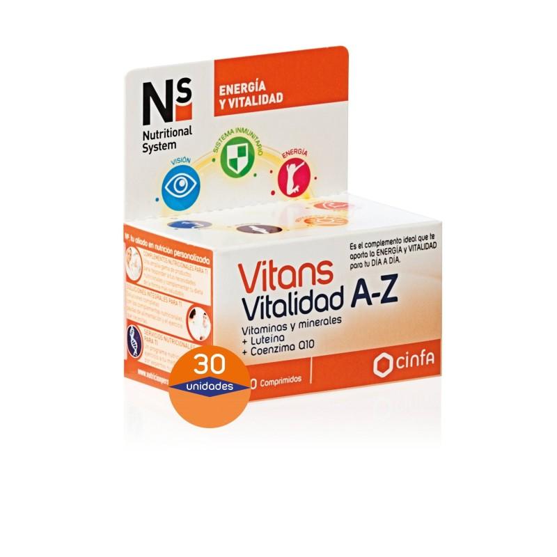 Ns Vitans Vitalidad A-Z 30 Comp