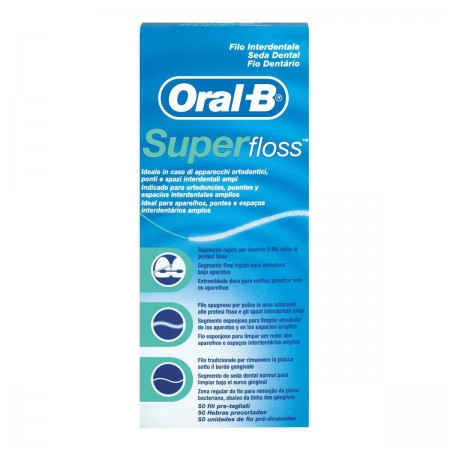 Oral B Super Floss Hilo 50 U