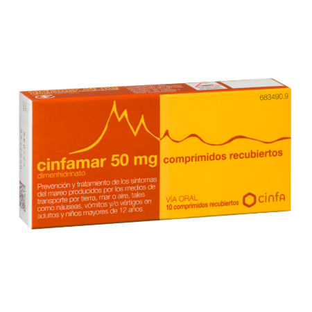 Cinfamar 50 Mg 10 Comp