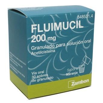 Fluimucil 200 Mg 30 Sobres Granulado Solucion