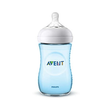 Avent Biberón Natural 260ml Azul