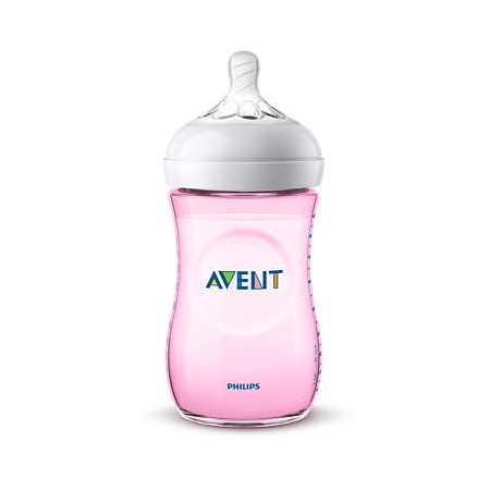 Avent Biberón Natural 260ml Rosa