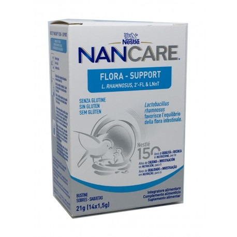 Nan Care Flora Support 14 Sobres X 1.5 G