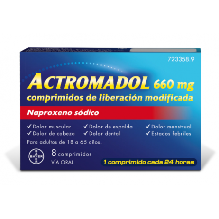 Actromadol 660 Mg 8 Comp