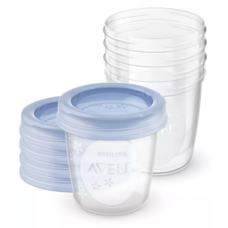 Avent 5 Recipientes +Tapas de 180 ml