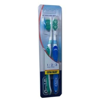 Cepillo Oral B 123 Shiny Medio 2 Uds