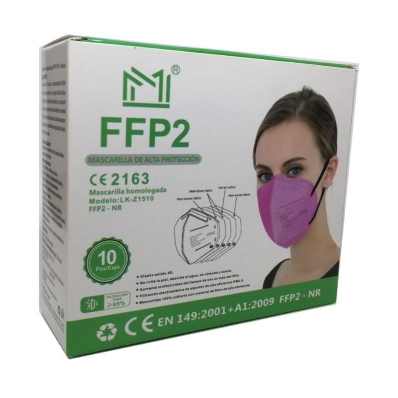 Mascarilla FFP2 Rosa 1 Unidad (Suelta)