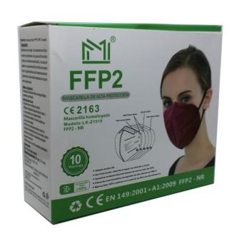 Mascarilla FFP2 Granate 1 Unidad (Suelta)