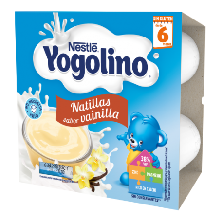 Nestle Iogolino Natillas Galleta 4x100