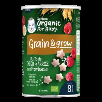 Gerber Nutripuffs Snack BIO Cereales Frambuesa 3