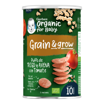 Gerber NutriPuffs Snack BIO Cereales Tomate 35g