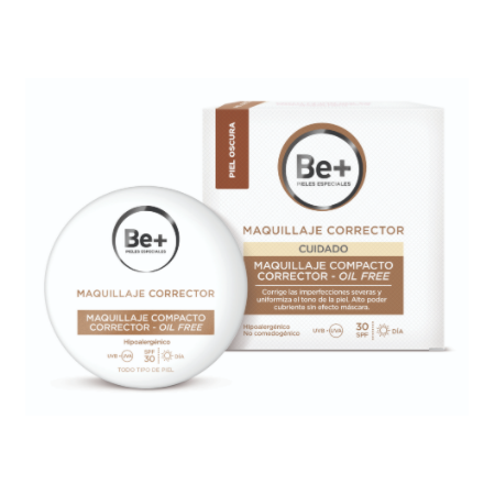 Be+ Maquillaje Compacto Oil-Free Spf30 Oscur 10g