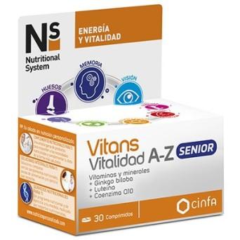 Ns Vitans Vitalidad A-Z Senior 30 Comp