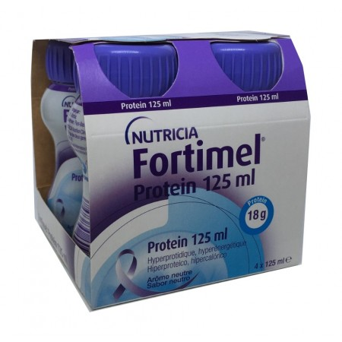 Fortimel Protein 4 Botellas 125 Ml Sabor Neutro
