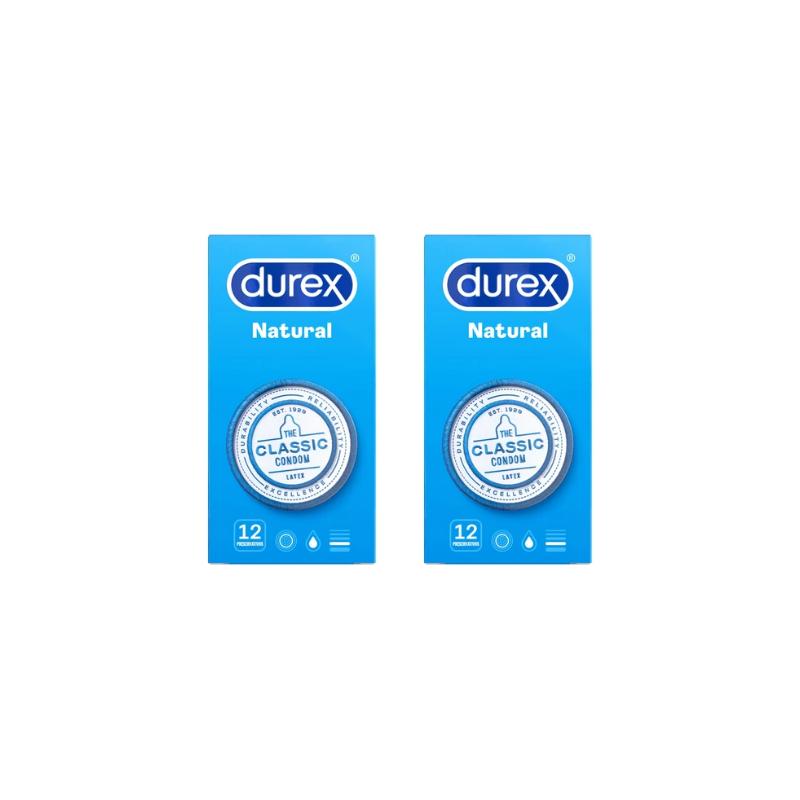 Profil Durex Natural Plus Duplo 2 x 12 Uds