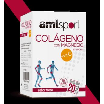 Aml Sport Colageno con Magnesio 20 Sticks Fresa