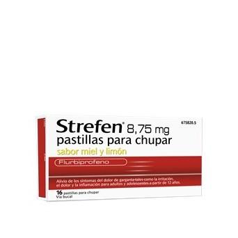Strefen 8.75 Mg 16 Pastillas Para Chupar Miel Y