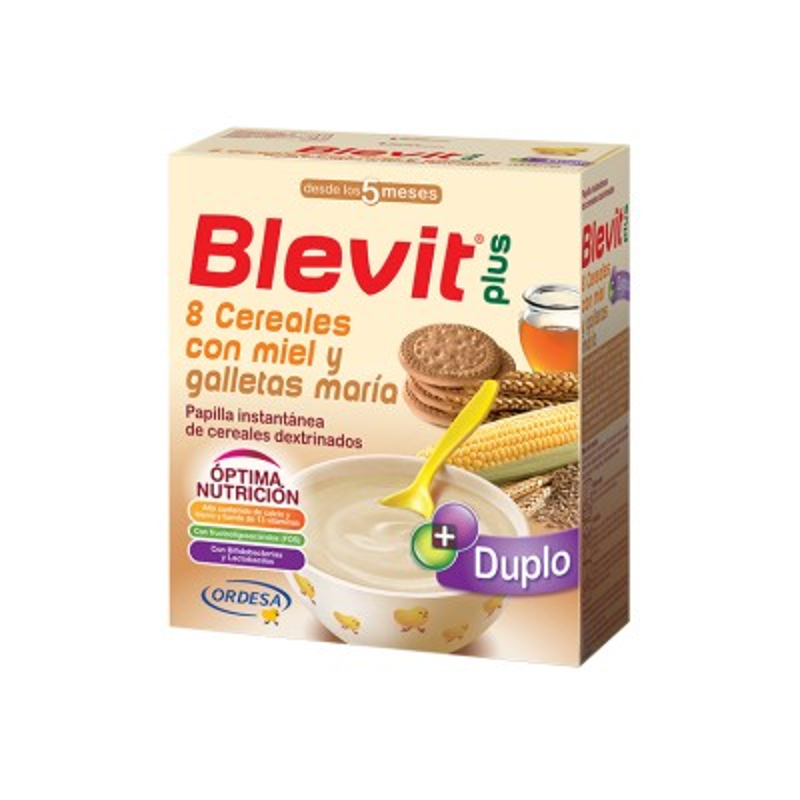 Blevit Plus 8 Cereales Miel Galleta 600g