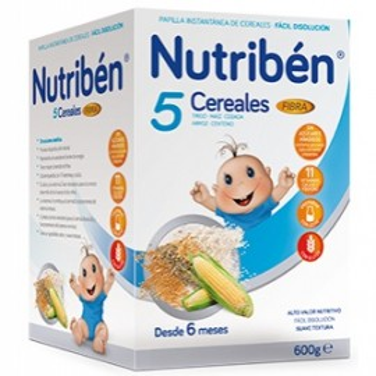 Nutriben 5 Cereales Fibra 600 G