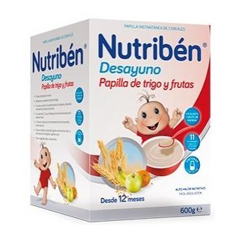 Nutriben Desayuno Papilla Trigo Frutas 600g