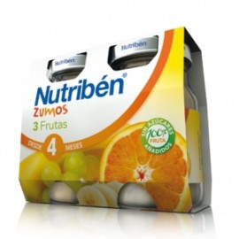 Nutriben Zumo 3 Frutas 2x130ml