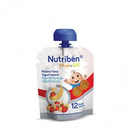 Nutriben Fruta & Go Platano Fresa Yogurt Natural