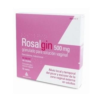 Rosalgin 500 Mg Granulado Solucion Vaginal 10 So
