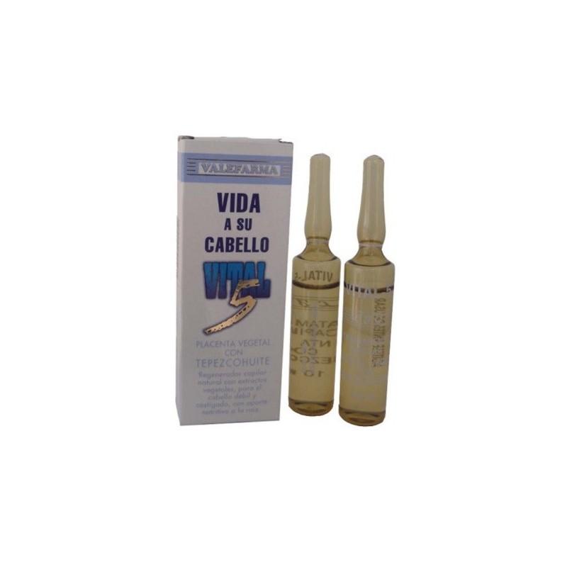 Vital 5 Regenerador Capilar 2 Ampollas 10ml