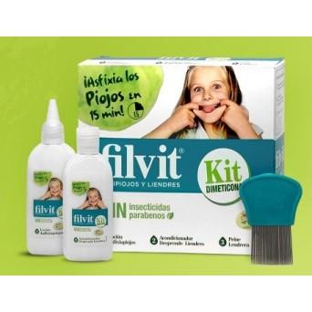 Filvit Kit Antipiojos Dimeticona