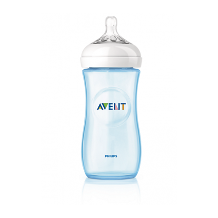 Avent Biberon Natural Azul 330 ml SCF698/17