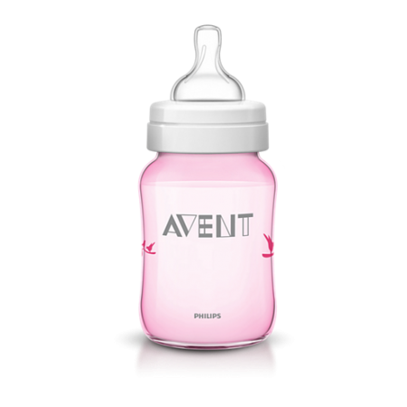 Avent Biberon Decorado Rosa 260 ml SCF624/17