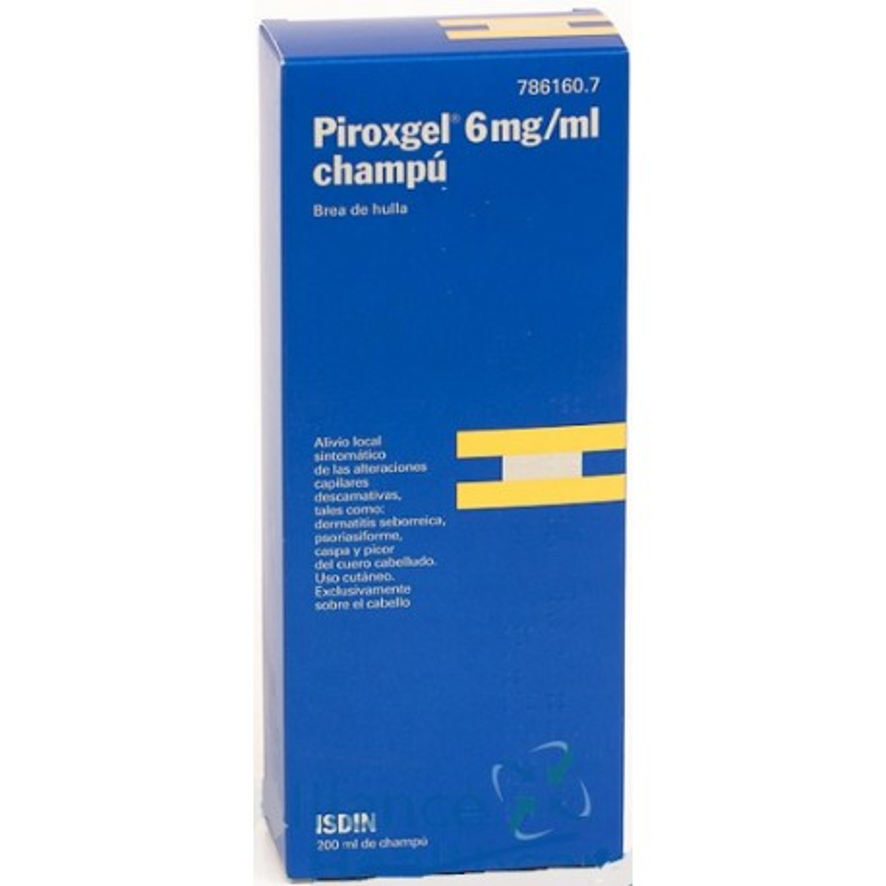 Piroxgel 6 mg/ml Champú Medicinal 200 ml