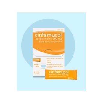Cinfamucol Acetilcisteina 600 Mg 10 Sobres Polvo