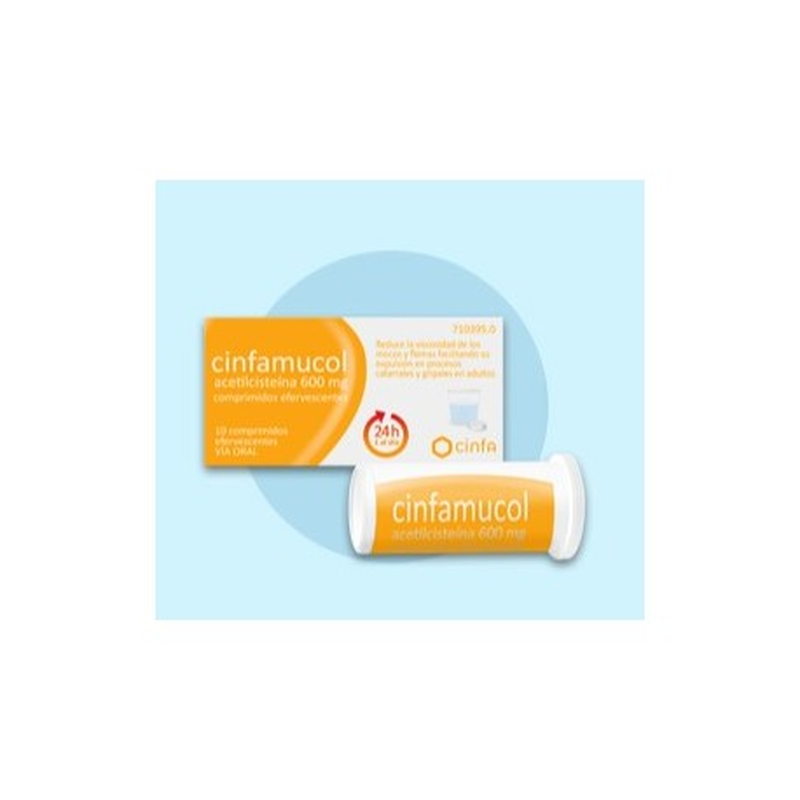 Cinfamucol Acetilcisteina 600 Mg 10 Comprimidos