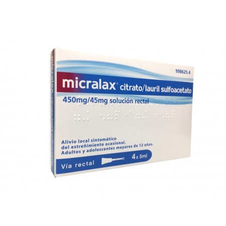 Micralax Emulsion Rectal 4 Microenemas 5 Ml