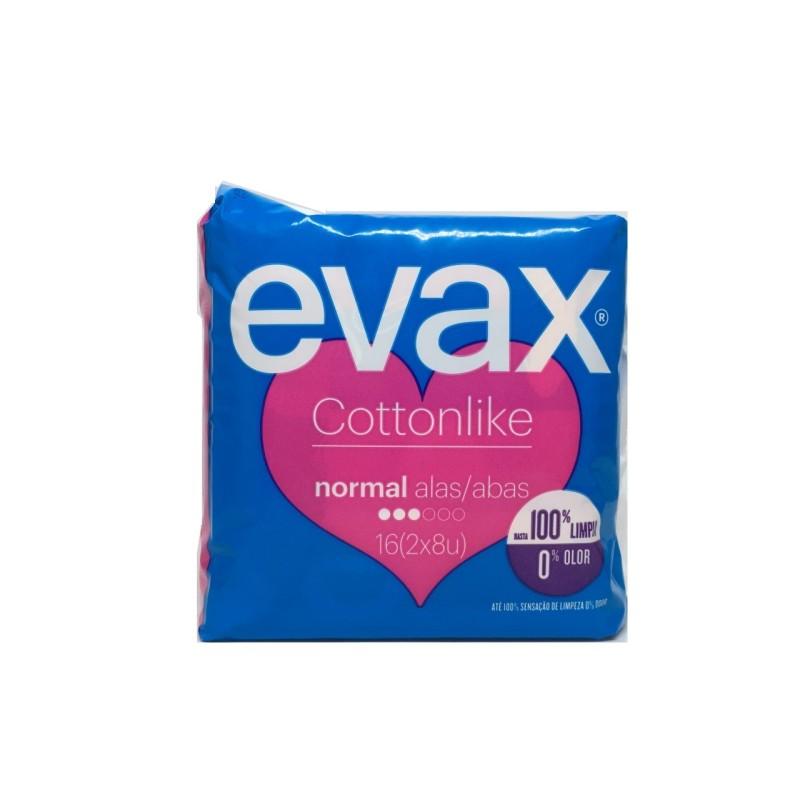 Compresas Evax Cottonlike Normal Alas 16uds