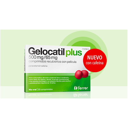 Gelocatil Plus 500mg/65mg 20 Comp