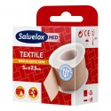 Salvelox Esparadrapo Textil Rosa 5 M X 2.5 Cm