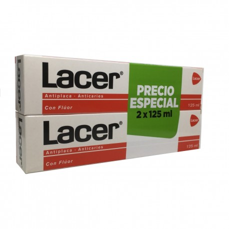 Pasta Lacer Duplo Ahorro 2 X 125 Ml