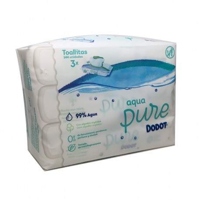 Dodot Toallitas Aqua Pure 144 Uds