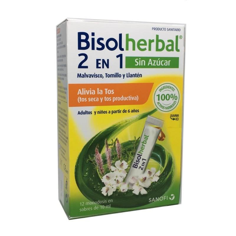 Bisolherbal 2 En 1 12 Sticks Sin Azúcar